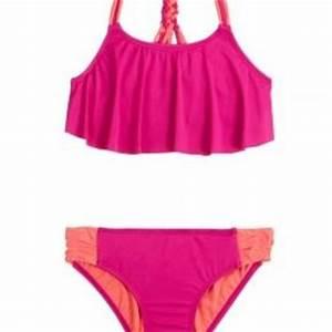 Braided Flounce Bikini Swimsuit   Girls from Justice