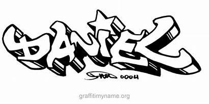 Daniel Graffiti Names Coloring Pages Cool Friend