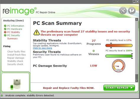 Resume Reimage Repair Installation by Reimage Pour R 233 Parer Ordinateur