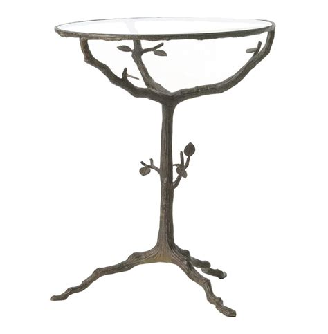 tree branch table l sherwood sculpted tree branch bronze pedestal side accent