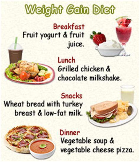 good diet chart for weight gain