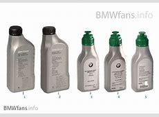 Huiles de boîte de vitesses BMW Catalogue des accessoires