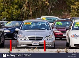 Mercedes Benz on a used car sales lot California USA Stock Photo, Royalty Free Image 48364894