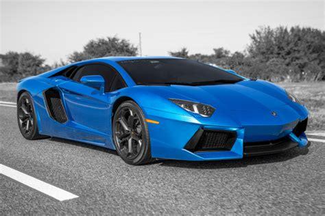 Azure Blue Lamborghini Aventador Photo Shoot **picture