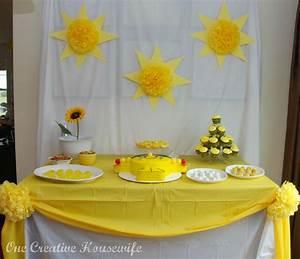 D Day Deco : you are my sunshine birthday party theme housewife ~ Zukunftsfamilie.com Idées de Décoration