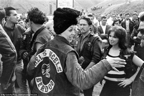 Black and white photographs of the Hells Angels get colour ...
