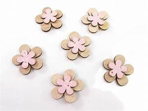 Fleur En Bois : fleur bois d co printemps rose decofete ~ Dallasstarsshop.com Idées de Décoration