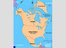 Clickable map of North America