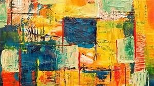 Download, Wallpaper, 3840x2160, Paint, Canvas, Spots, Stains