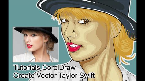 tutorials vector coreldraw draw taylor swift time