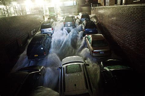 battery parking garage nyc new york city photos flooding and power outages in