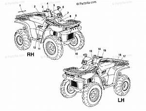 Polaris Atv 2001 Oem Parts Diagram For Decals A01ch50aa