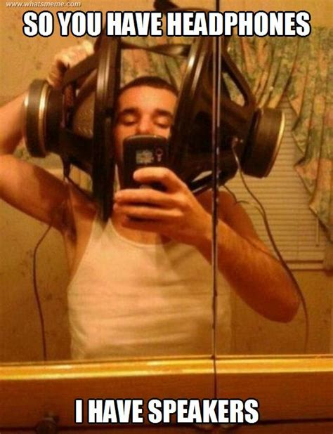 headphones what s meme funny pinterest