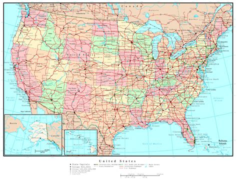 united states political map