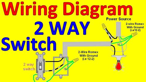 Way Light Switch Wiring Diagrams Youtube