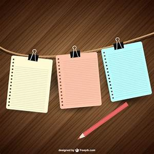 Notebook papers hanging Vector | Free Download