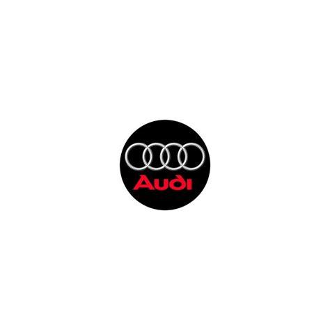 stickers cache moyeu audi logo noir