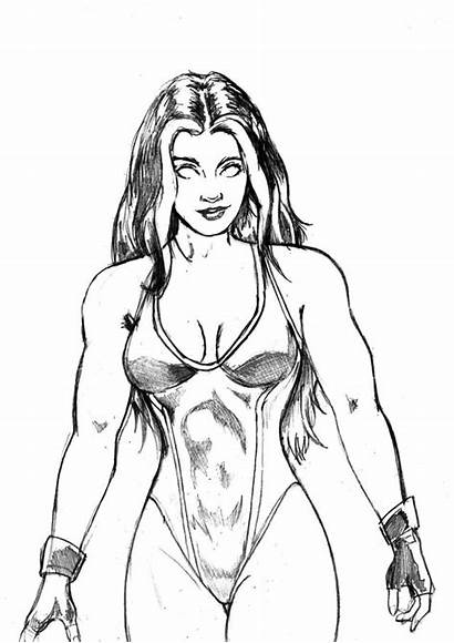 Hulk She Coloring Betty Ross Grim1978 Deviantart
