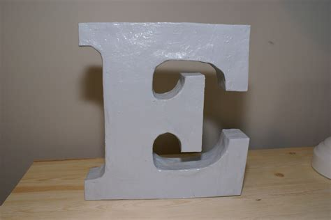 diy paper mache letters guide patterns
