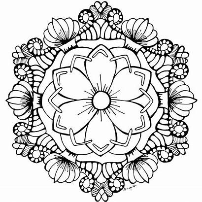 Coloring Pages Adult Printable Flower Mandala Garden
