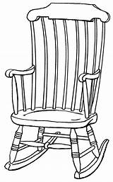 Chair Rocking Drawing Clipart Outline Chairs Drawings Clip Line Wooden Cliparts Colouring Pages Collaboration Library Plans Plan Psf Grandchildren Quotes sketch template