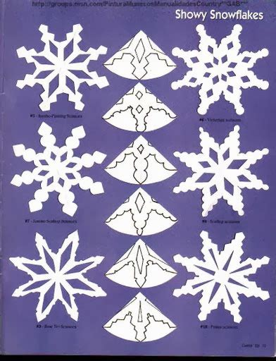 snowflake template paper snowflakes patterns the idea king