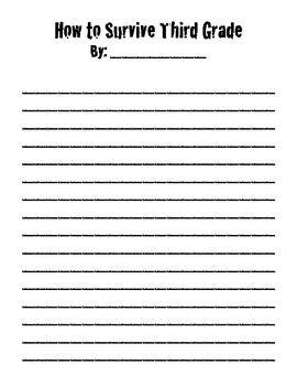 survive letter prompt writing  grade
