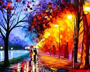 Autumn, Oil, Painting, Desktop, Wallpaper, Amazing ...