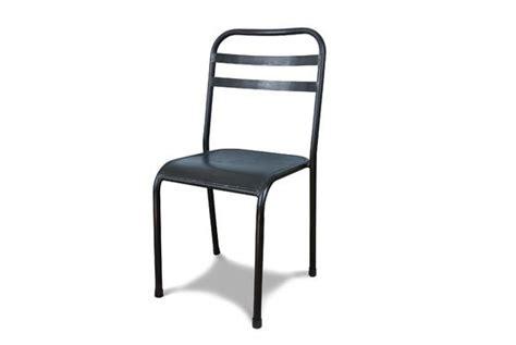 chaise métallique chaise métallique empilable brune assise profonde pib