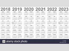 2018 Calendar Simple Vector Calendar Stock Photos & 2018