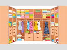 Wardrobe room Furniture Stock Vector Colourbox