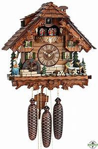 Cuckoo Clock - 8-Day with Moving Wood Cutters & Water
