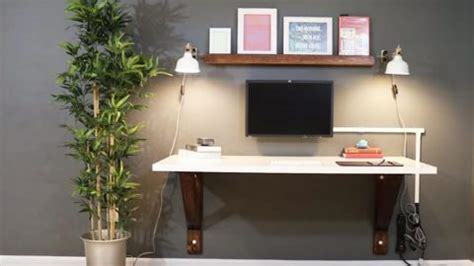 builds  clever wall mounted desk  saves  lot