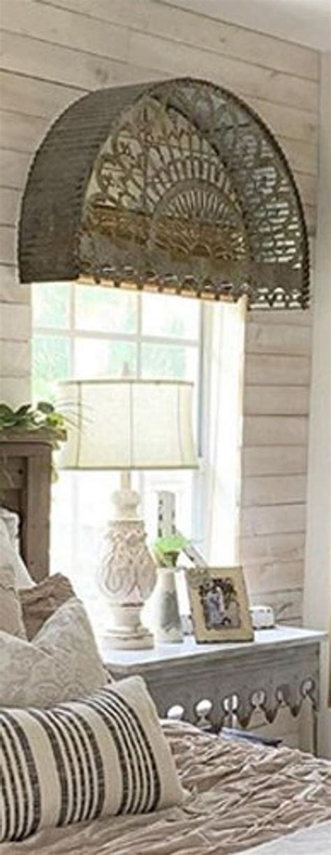 gorgeous farmhouse metal arched architectural detail awning etsy  images metal awnings