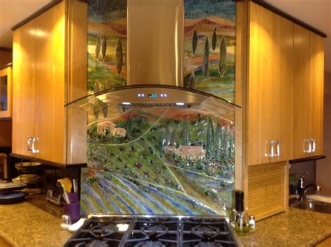metal kitchen backsplash murals glass tuscan mural for kitchen designer glass mosaics 7453
