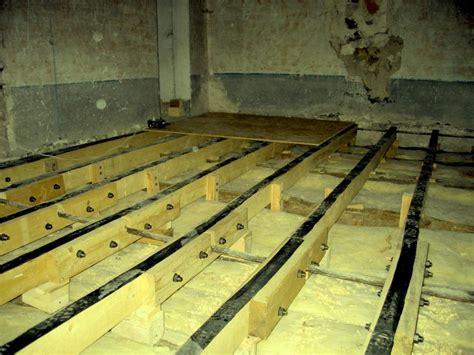 insonorisation chambre isolation phonique au sol pour mezzanine en bois