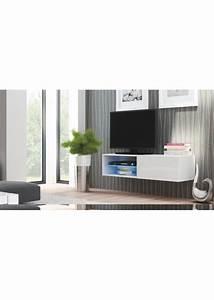 Meuble Tv Suspendu But : meuble tv suspendu 120 cm blanc ~ Teatrodelosmanantiales.com Idées de Décoration