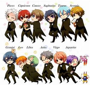 A Japanese Anime based on Zodiac Signs !! Super cute ...