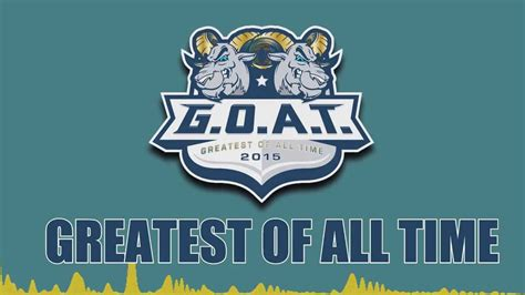best of all time goat 2015 greatest of all time bek wallin feat