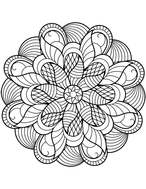 flower mandala coloring pages  coloring pages  kids