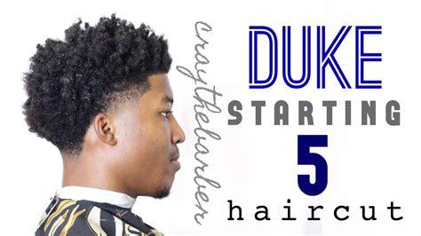 duke starting  haircut bald taper  curls