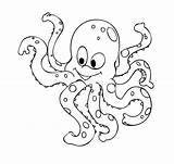Octopus Coloring Detskaya sketch template