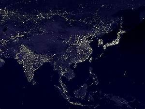 China Lights at Night NASA - Pics about space