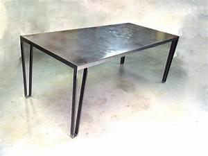Table En Acier : galerie photos ~ Teatrodelosmanantiales.com Idées de Décoration