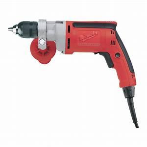 Milwaukee Corded Electric Drill  U2014 1  2in  Keyless Chuck  8