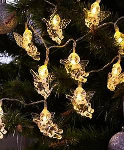 Ange De Noel Pour Cime De Sapin : guirlande d anges lumineux pour sapin de no l acheter ~ Teatrodelosmanantiales.com Idées de Décoration