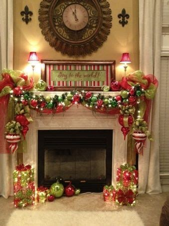 images  christmas fireplace mantels