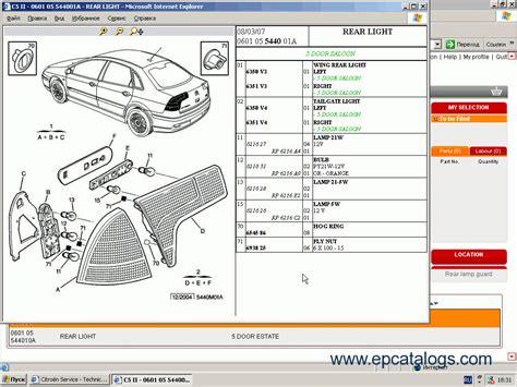 citroen service box electronic parts catalog