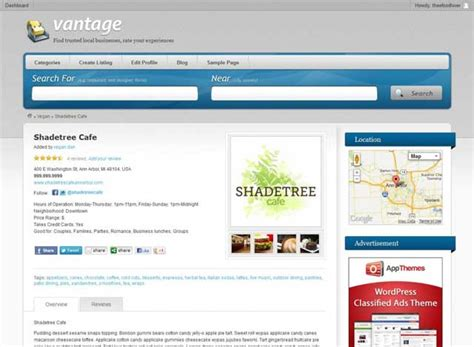 vantage directory wordpress theme review athemes