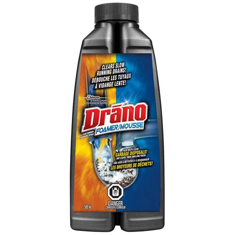 Drano To Clean Bathtub by Drano 500ml Foamer Drain Cleaner Lowe S Canada